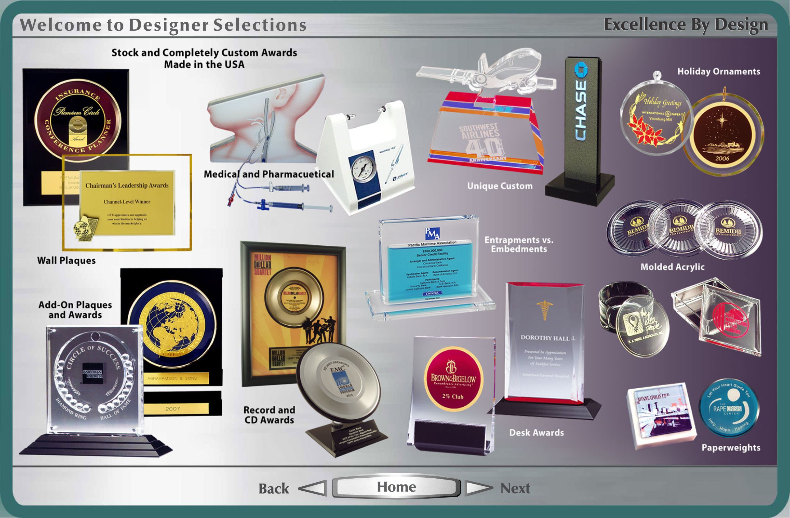Designer Selections Home Page