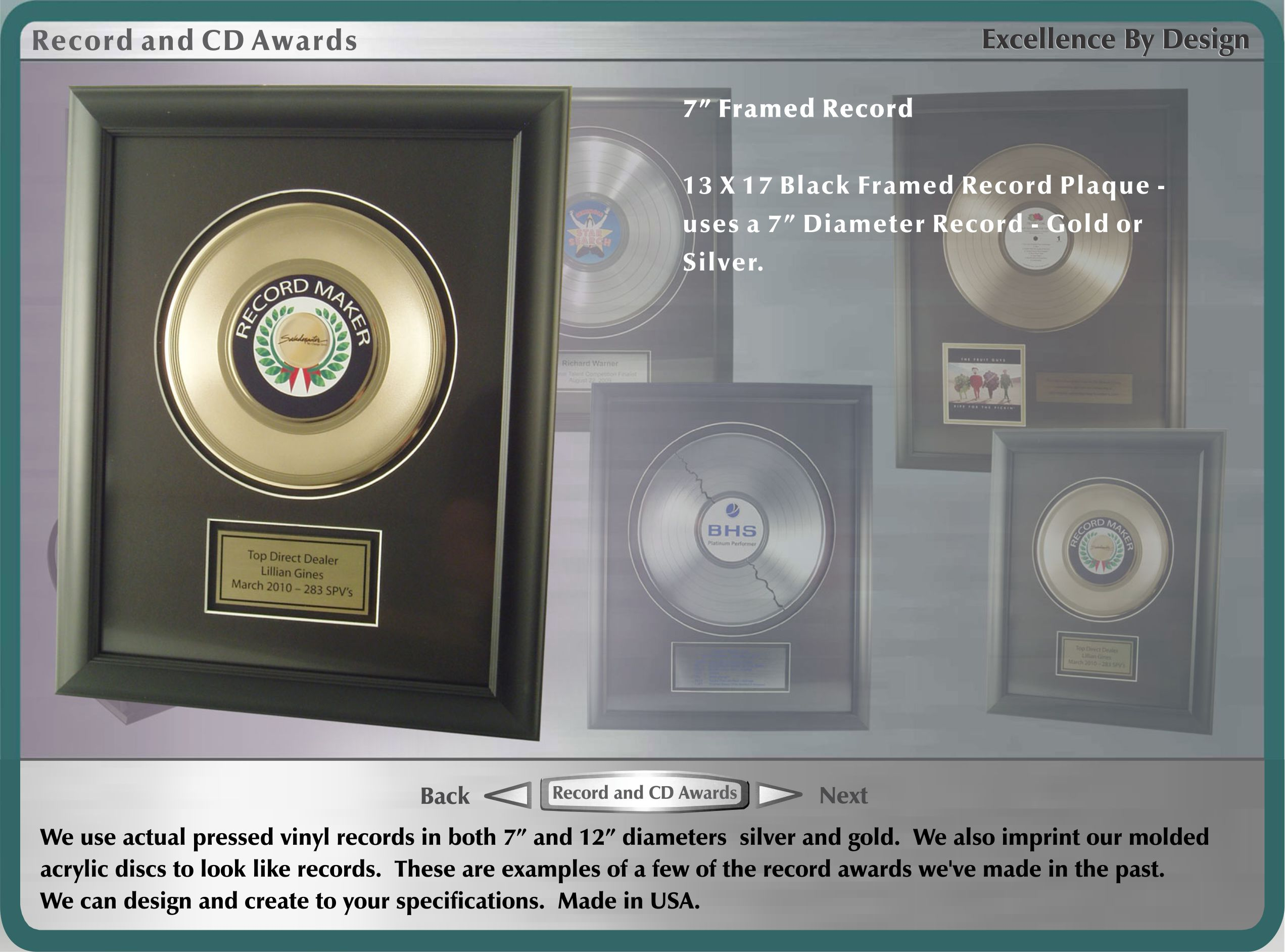 Stock and Custom Record and CD Awards